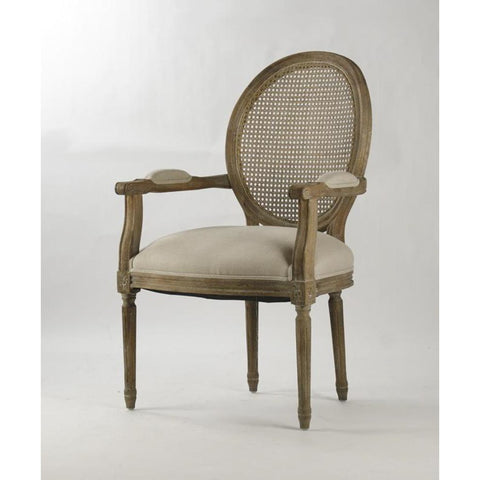 Zentique Medallion Arm Chair in Natural