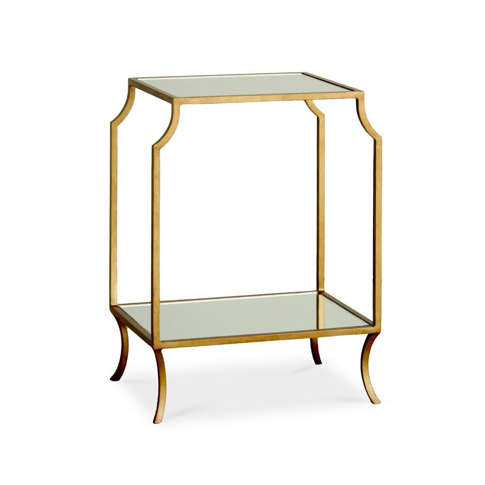 Redford House Milla Small Side Table in Antique Gold
