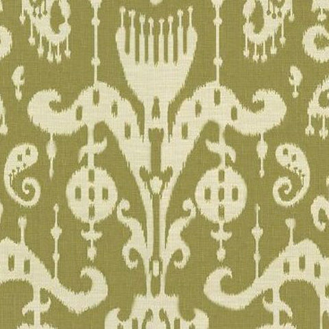 Kravet Fabric by the Yard:  Ikat Sassari in Leaf