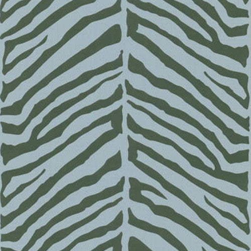 Kravet Zebra Wallpaper In Blue