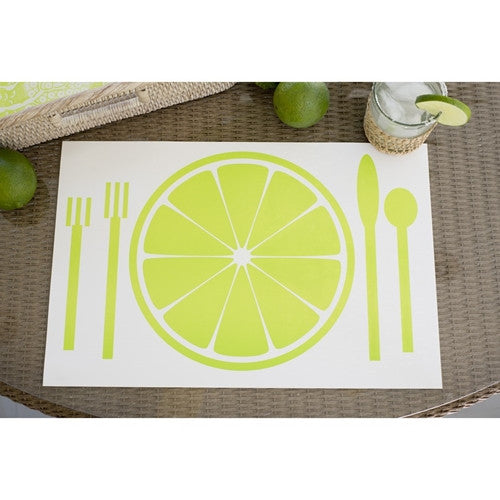 Paper Placemat Pads, Plate, in Citron