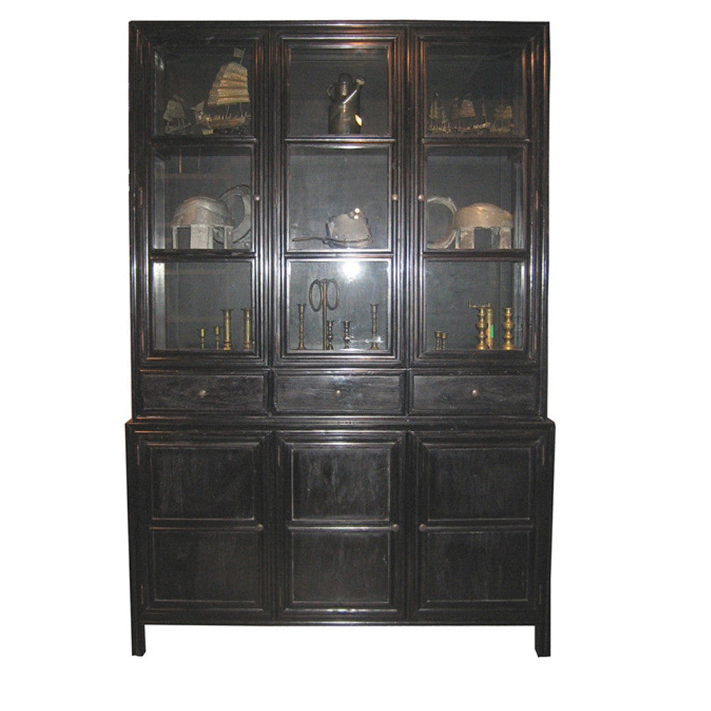 Noir Colonial Hutch, Hand Rubbed Black