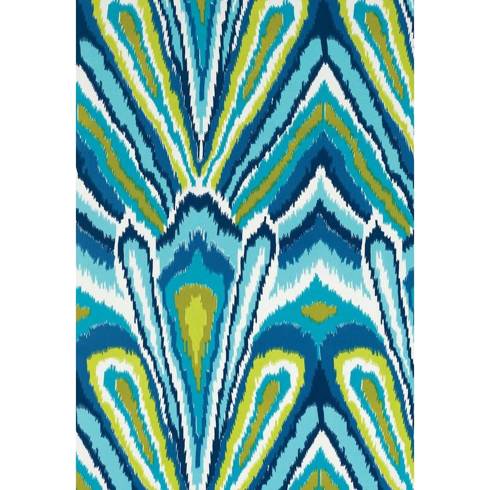 Fabric by the Yard:  Peacock Print in Pool
