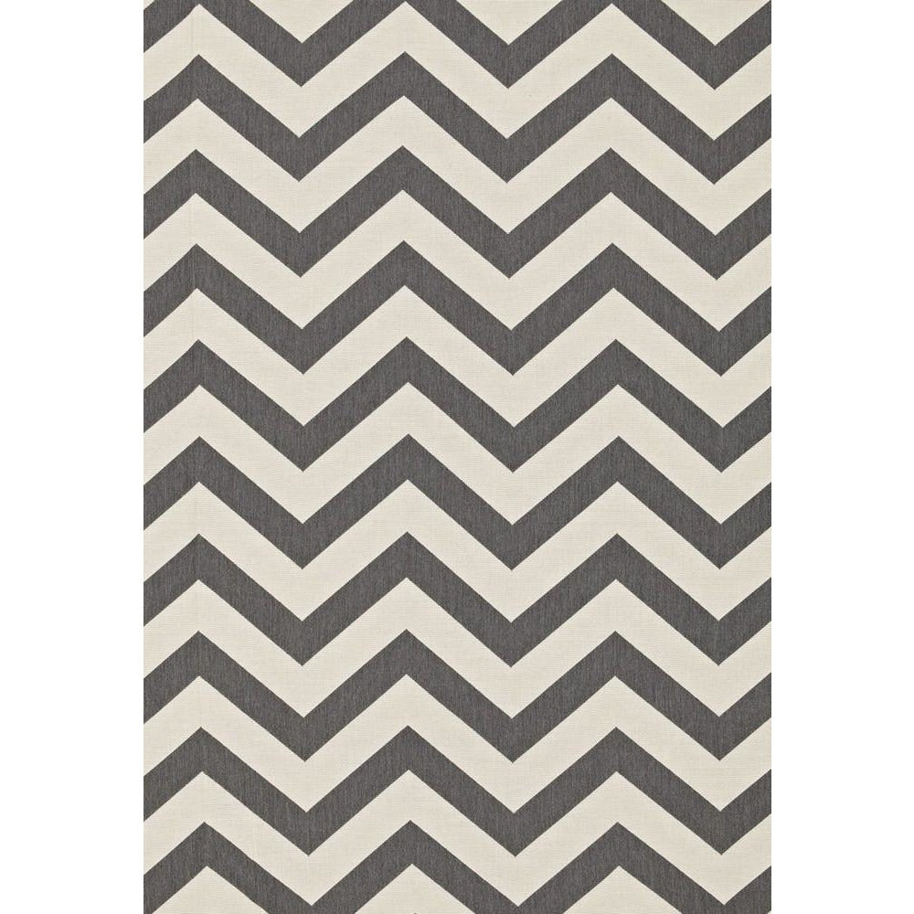 Fabric by the Yard:  Antibes Chevron in Oxford Grey