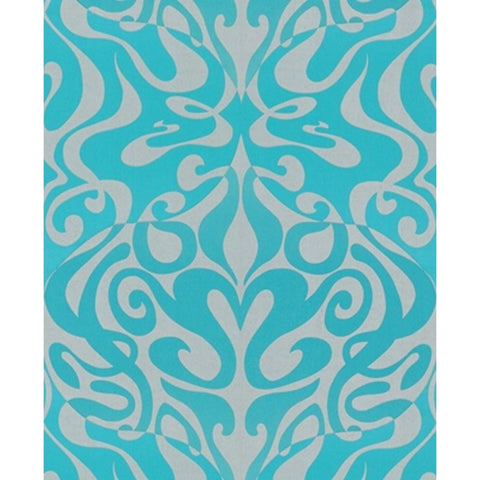 Cole And Son Woodstock Wallpaper in Aqua