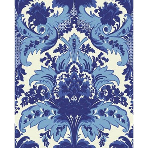Cole And Son Aldwych Wallpaper in Blue/White