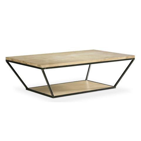 Redford House Blair Rectangular Coffee Table in Cashew