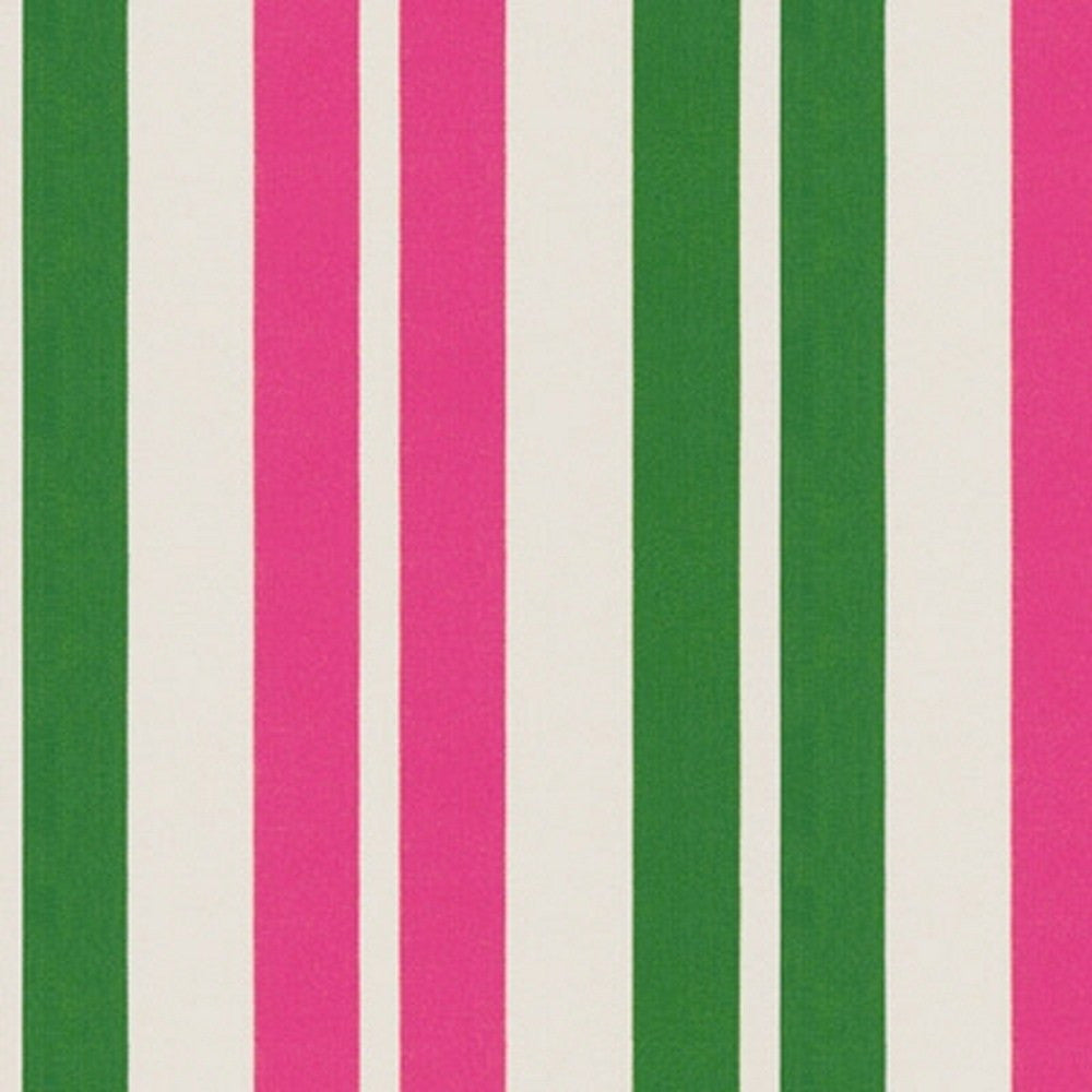 Kravet Fabric by the Yard:  Stripe it Up in Punch/Green