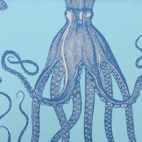 Duralee Fabric by the Yard: Octopus in Sky Blue