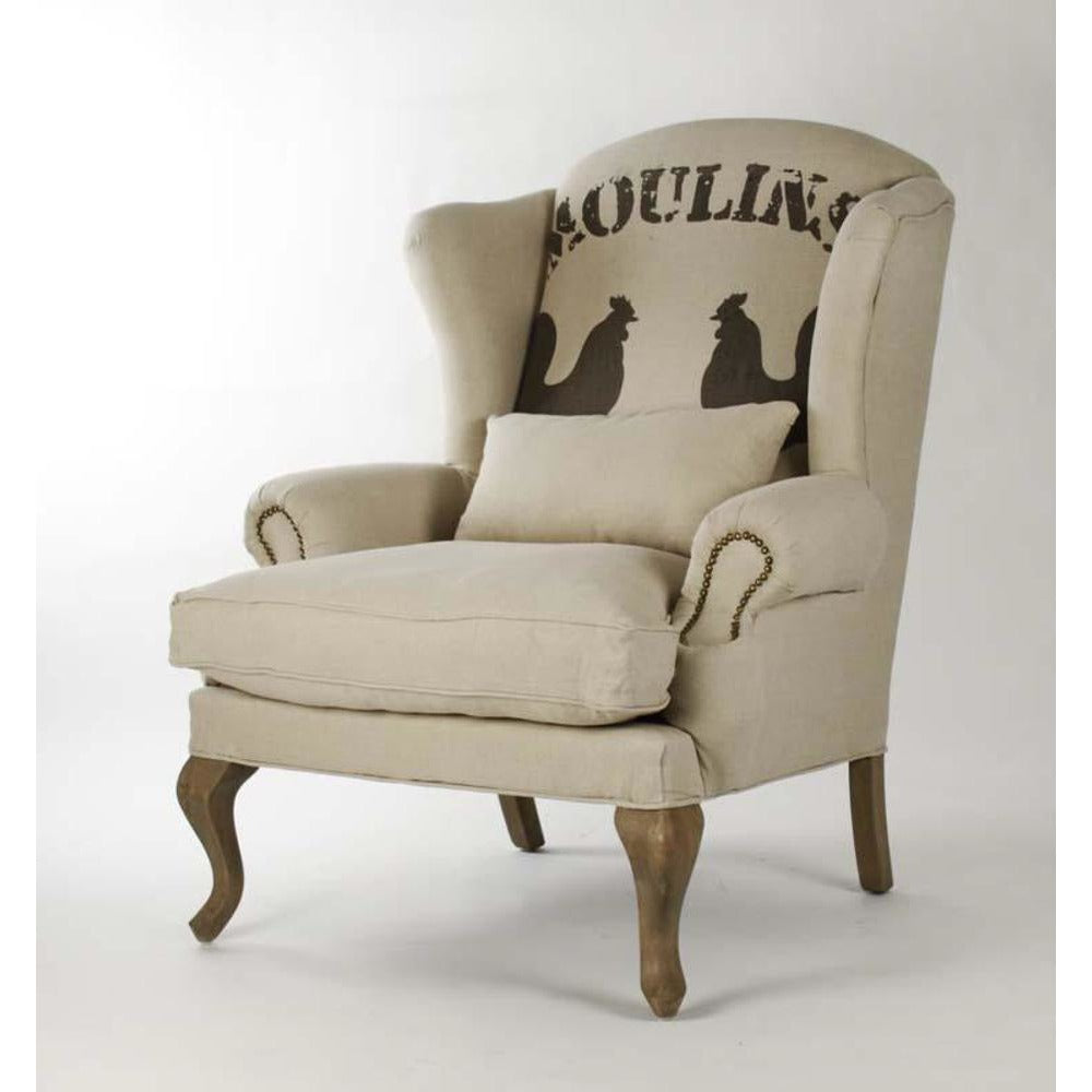 Zentique Zacharie Club Chair in Rooster