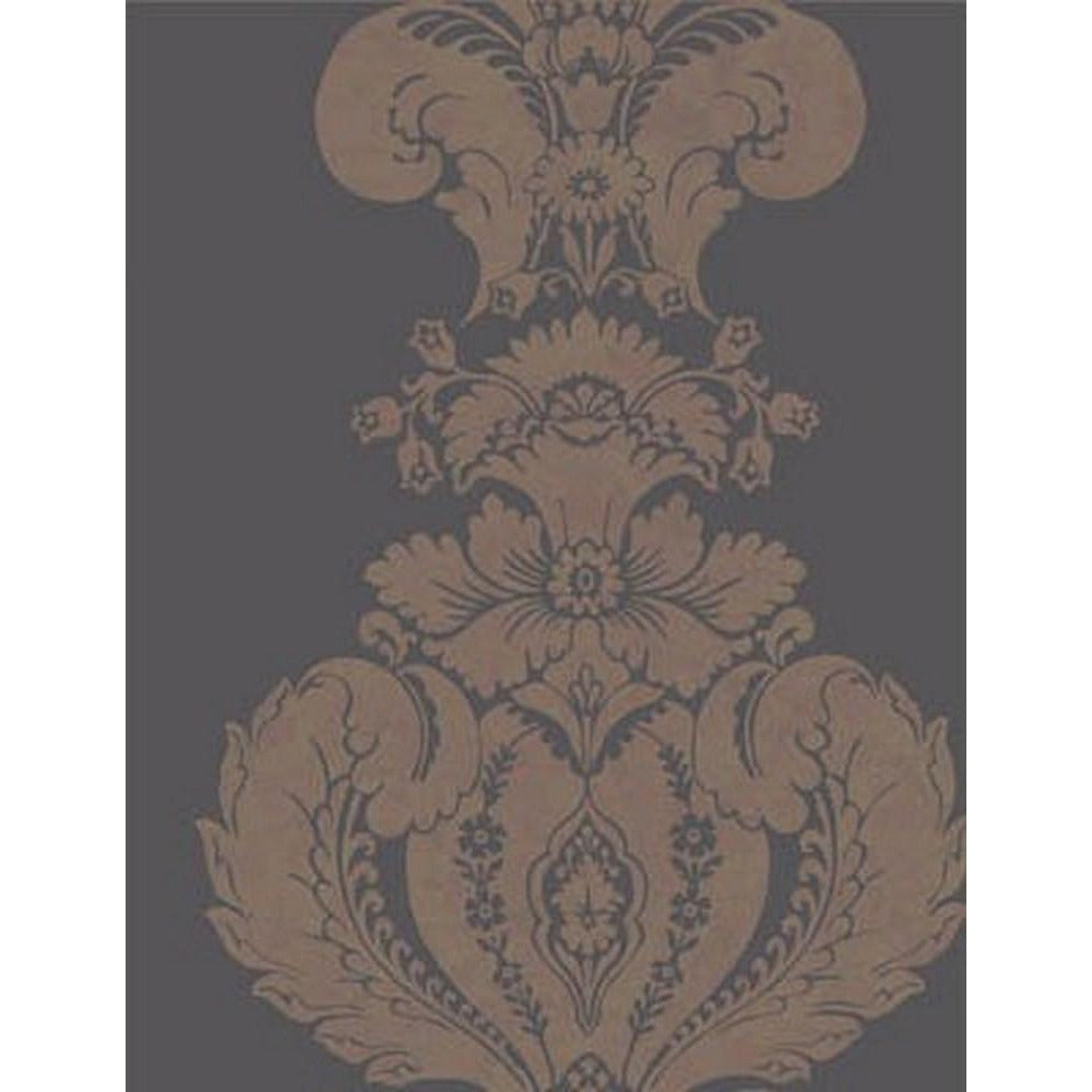 Cole And Son Baudelaire Wallpaper in Black/Bronze