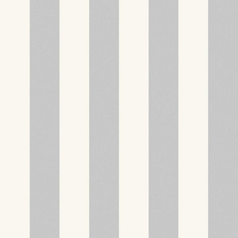 Cole And Son Striped Wallpaper in Silver