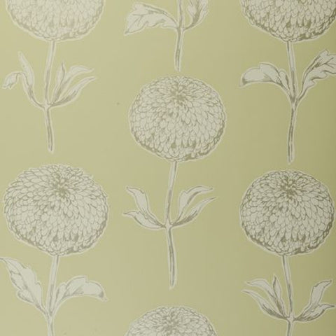 Clarke & Clarke Dahlia Double Roll Wallpaper in Citrus