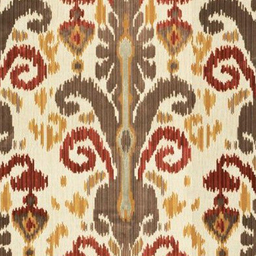 Kravet Fabric by the Yard:  Ikat Pardah Velvet in Java
