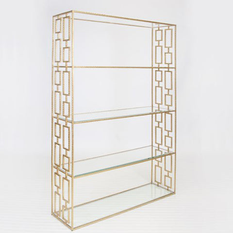 Worlds Away Hays Gold Leafed Etagere