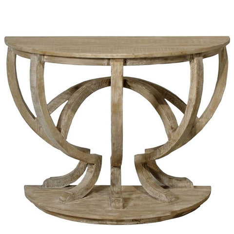 CFC Reclaimed Lumber Demi Lune Console