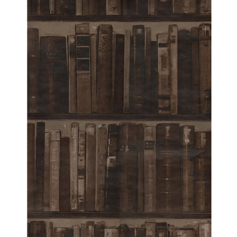 Andrew Martin Library Wallpaper in Leather