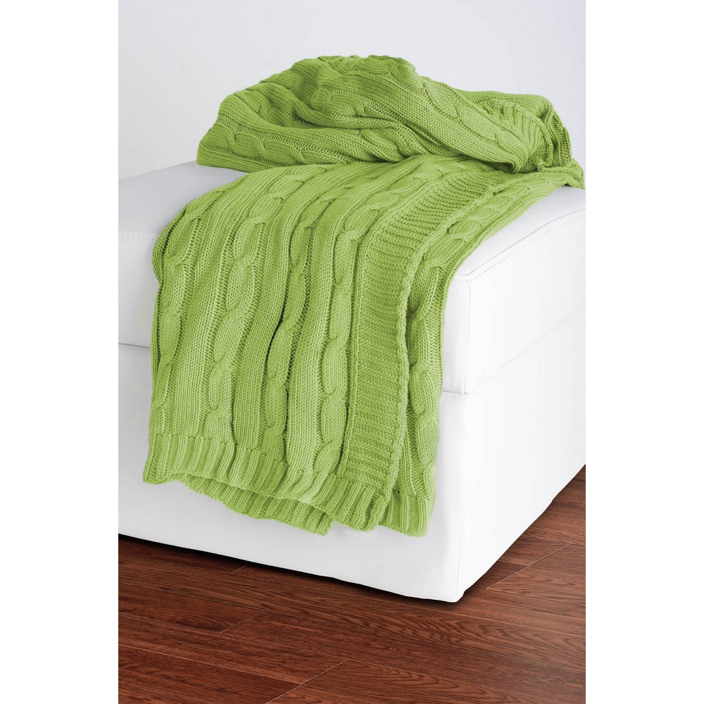 Rizzy Home Throw in Lime