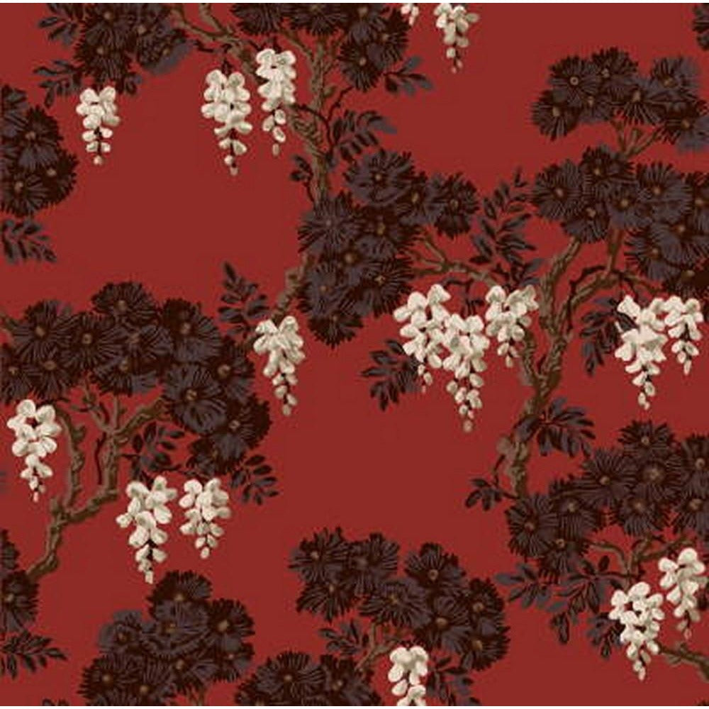 Cole And Son Wisteria Wallpaper in Red