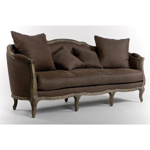 Zentique Maison Sofa in Aubergine
