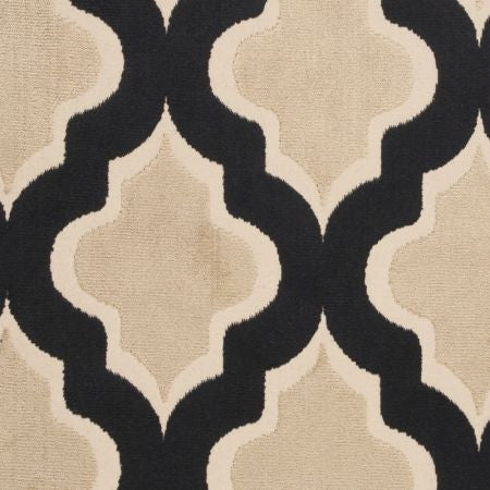 Clarke & Clarke Fabric By The Yard: Black Geo