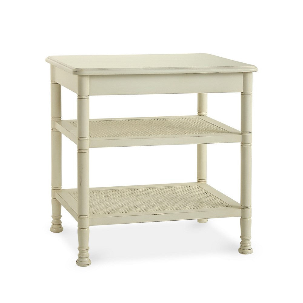 Redford House Wellesley Side Table in White