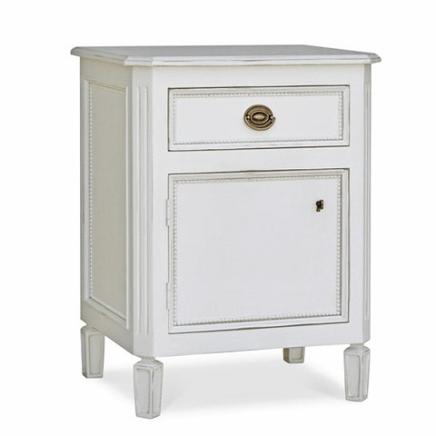 Redford House Swedish Nightstand in White