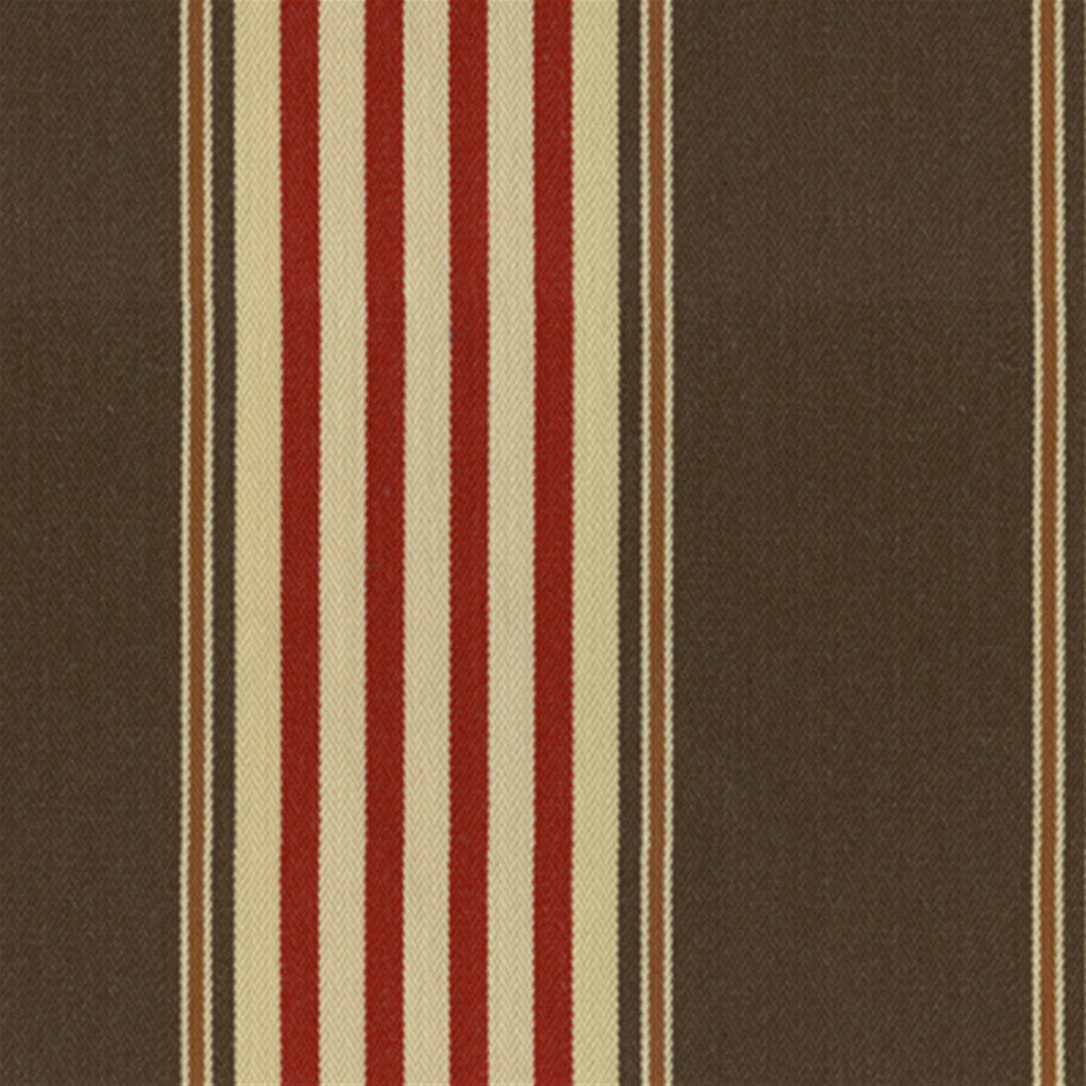 Kravet Fabric by the Yard- Chaff Ticking Cayenne