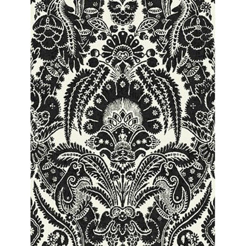Cole And Son Chatterton Wallpaper in Black