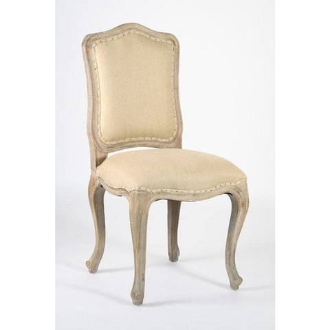 Zentique Cannes Limed Chair in Hemp