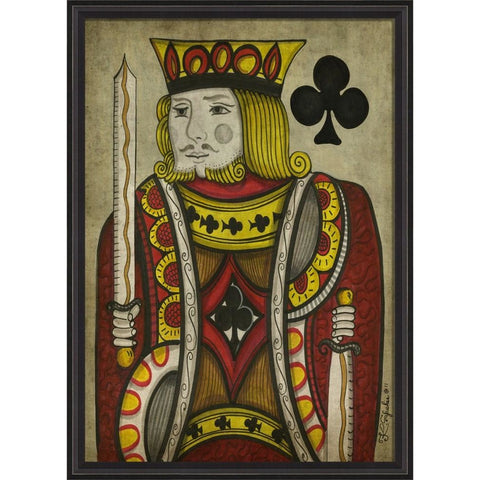 Spicher & Co. King of Clubs Card Art, Large