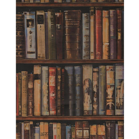 Andrew Martin Library Wallpaper in Multi