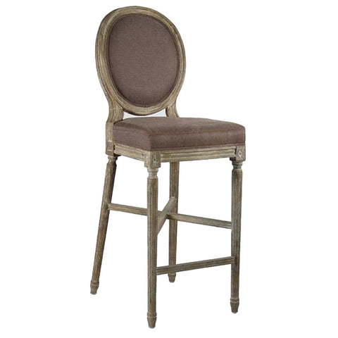 Zentique Medallion Bar Stool in Aubergine