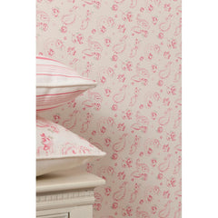 Clarke & Clarke Evelina Wallpaper in Raspberry