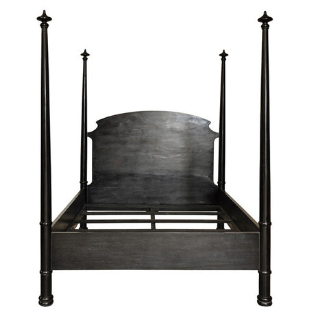 Noir Douglas Bed, Hand Rubbed Black