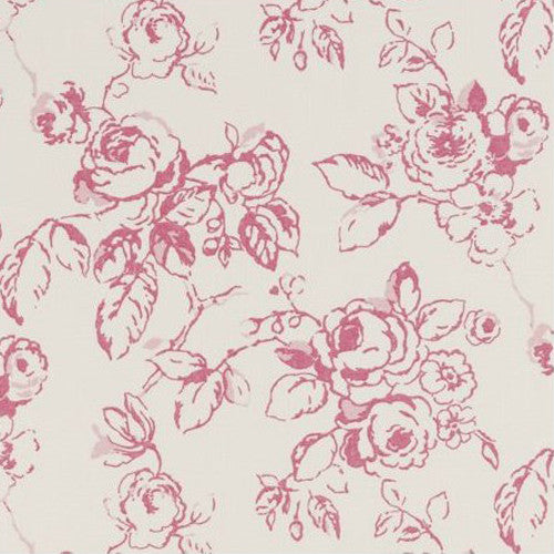 Clarke & Clarke Fabric by the Yard:  Delphine in Raspberry