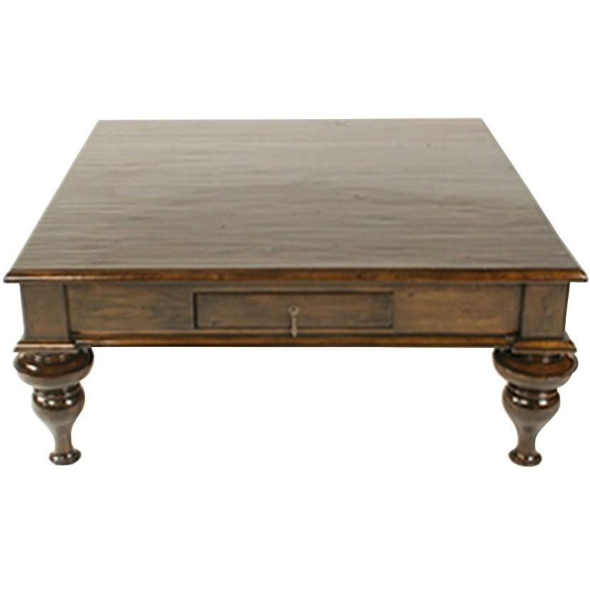 Noir Colonial Coffee Table, Hand Rubbed Black
