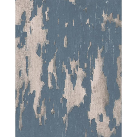 Andrew Martin Crackle Wallpaper in Blue