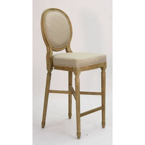 Zentique Medallion Bar Stool in Linen