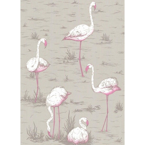 Cole And Son Flamingo Wallpaper in Grey