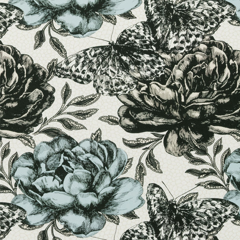 Clarke & Clarke Fabric by the Yard Papillon Mineral
