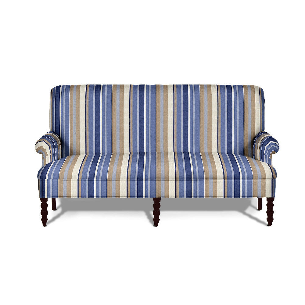 Kravet Mecox Settee In Blue Stripe