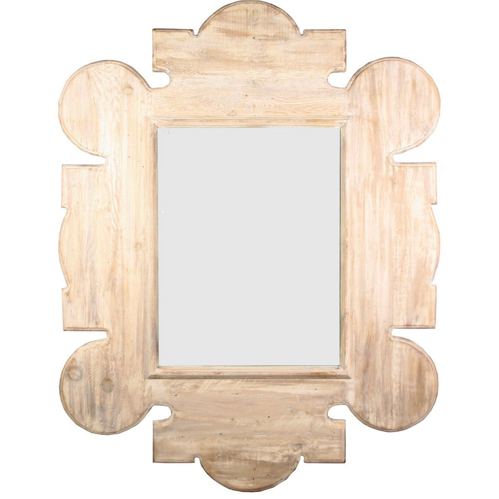CFC Reclaimed Lumber Gothic Mirror, Wall