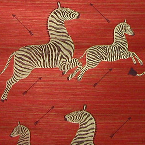 Scalamandre Zebra Grasscloth In Red My Two Designers