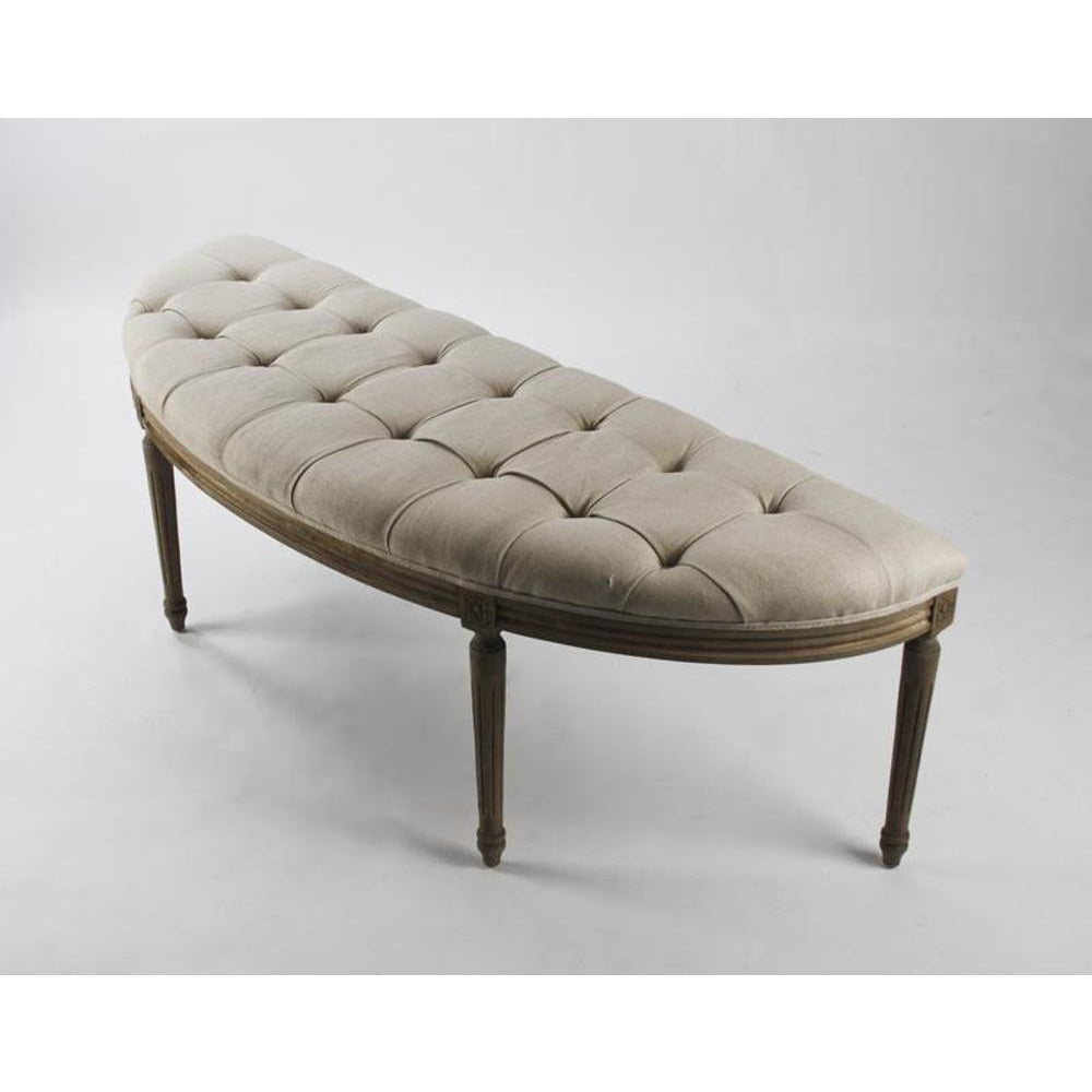 Zentique Louis Curved Bench in Natural