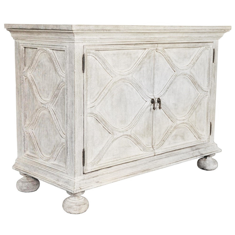Noir Comles Sideboard, White Weathered
