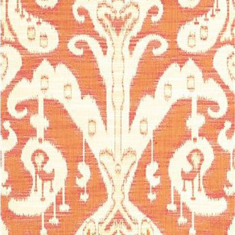 Kravet Fabric by the Yard:  Ikat Gigi in Tangerine
