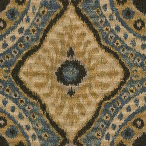 Kravet Fabric by the Yard:  Bursa Suzani in Indigo