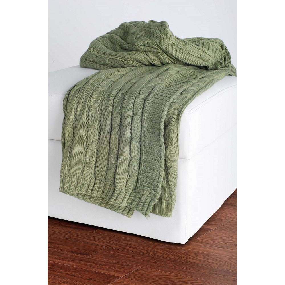 Rizzy Home Throw in Olive