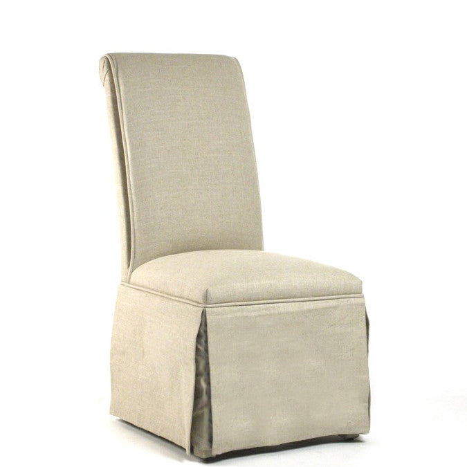 Zentique Skirted Side Chair in Natural